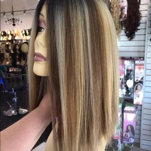 Accessories - Blonde bob wig sale blunt cut new style 2019 ombré